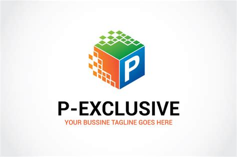 p exclusive logo template logo templates on creative market