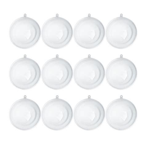 bulk 110mm clear acrylic fillable ball ornaments acrylic