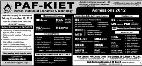 Paf Kiet Mba Fee Structure 2017 by Paf Kiet Announces Admissions 2013