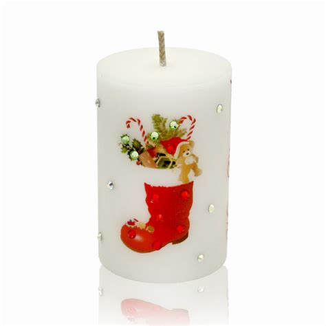 luxury christmas candle merry christmas decorations with