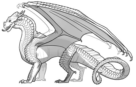 seawing dragon coloring page seawings dragon from wings of fire coloring page to