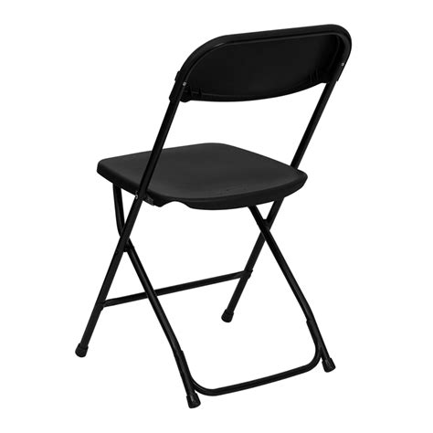 Black Plastic Folding Chairs by Hercules Series 800 Lb Capacity Black Plastic Folding