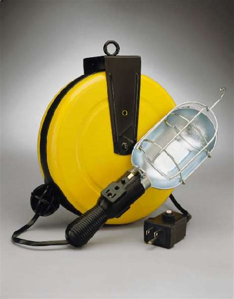 retractable led work light incandescent retractable cord reel work light with