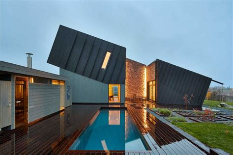 architecture modern residence in norway embedding innovative sustainable