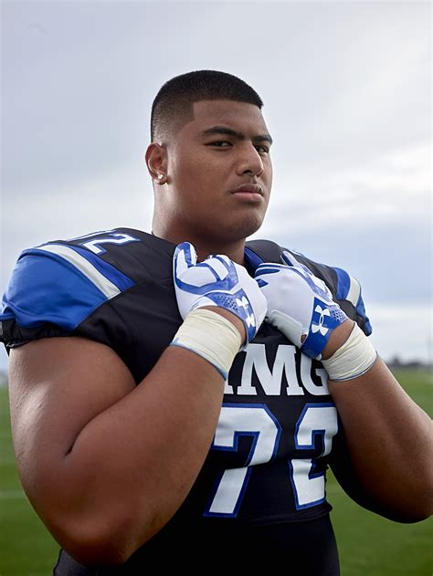 s day football player daniel faalele has football coaches drooling before his