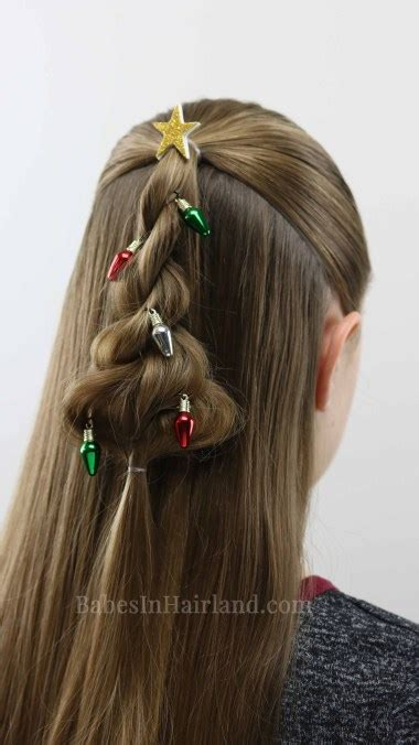 cute christmas hairstyles twisted tree hairstyle a hairstyle