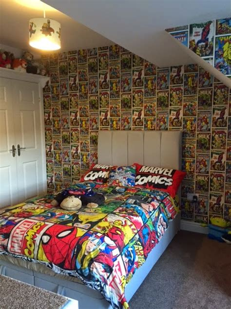 marvel wallpaper  boy room wallpapersafari