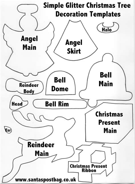 Best Photos Of Printable Stencils For Christmas Decorations Printable Christmas Ornament Decoration Templates Free Printable