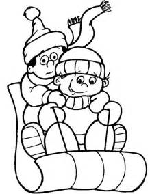 free printable winter coloring pages kids