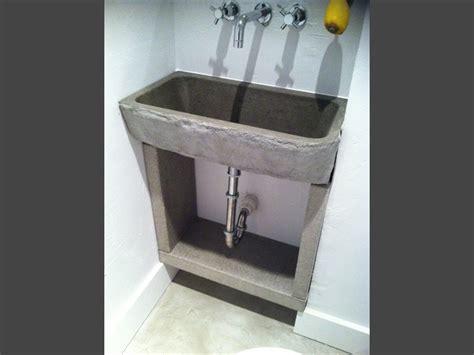 concrete pedestal sink befon for