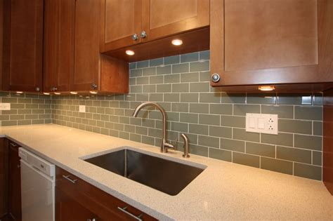 How To Do Backsplash Tile In Kitchen White And Cherry Wood Kitchen Remodel Contemporary