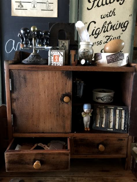 shabby chic antiques chest cabinet