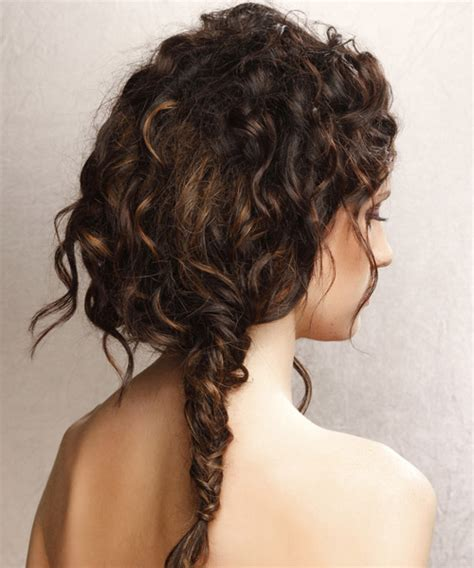 hairstyles for curly hair casual updo long curly casual updo hairstyle dark brunette