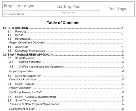 resource plan project management template plan human resources project management templates