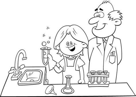 dibujos para colorear de cientificos pintar dibujos de quimicos y cientificos