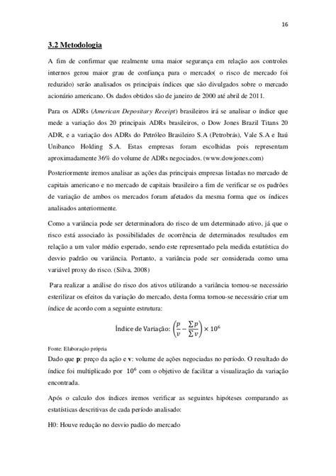 Impacto da Lei Sarbanes Oxley (SOX) nas ações da empresas