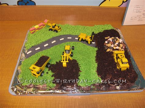 birthday themes website easy construction site cake