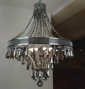 black contemporary chandelier modern smoke and black metal chandelier