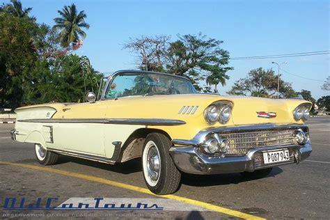 58 impala convertible chevrolet impala 1958 yelow classic american cars