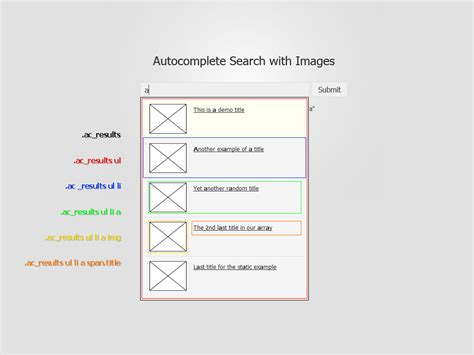 css layout structure foxycomplete advanced autocomplete search with images