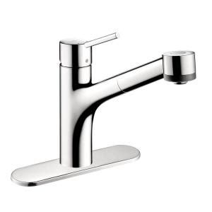 hansgrohe 04247000 chrome talis s pull down kitchen faucet hansgrohe talis s single handle pull out sprayer kitchen