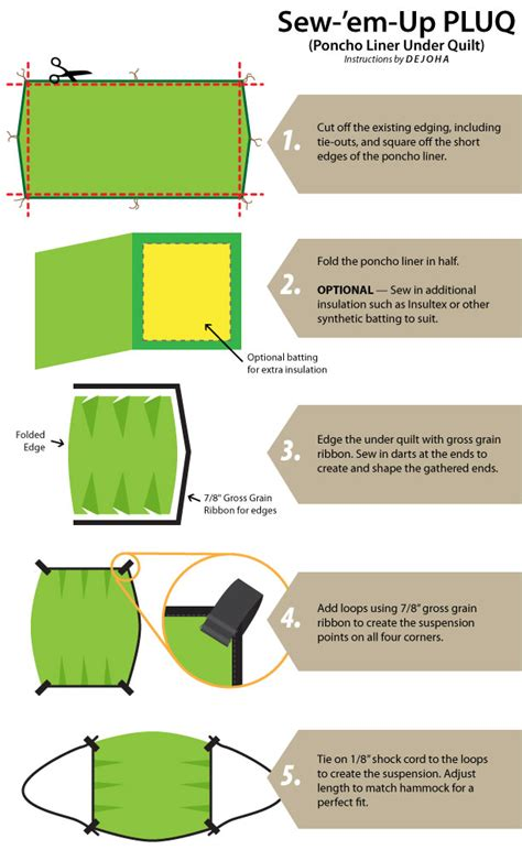 Diy Hammock Quilt by How To Make A Diy Poncho Liner Underquilt For A Cing