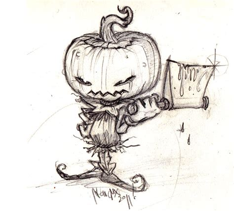 Evil Pumpkin Drawings evil 1992 bargainspiratebay
