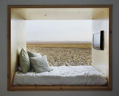 einbau bett in einer nische schlafzimmer