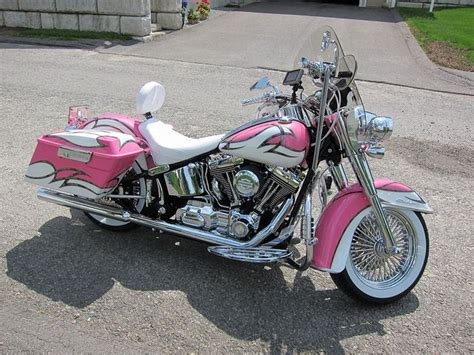studiopeg s pink 2008 harley softail deluxe switch the pink and black on the paint i