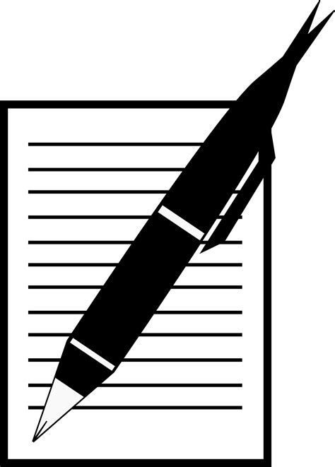 writing pen and paper clipart paper write pen