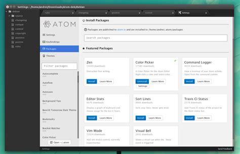 editor di testo guida installare l editor di testo atom su ubuntu