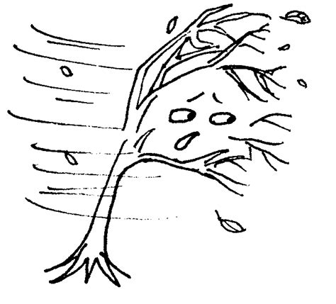 free coloring pages of fall windy day