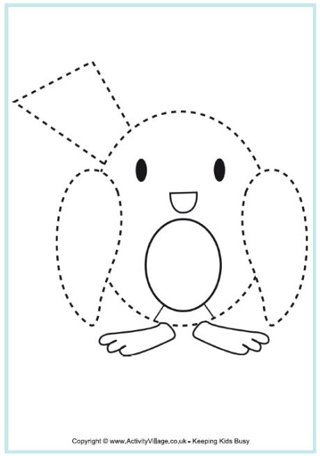 printable tracing pages for toddlers robin tracing christmas printables for kids naturally