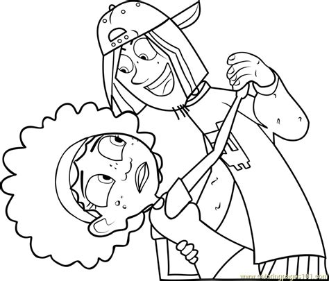 wild kratts coloring pages pdf jimmy z with koki coloring page free wild kratts