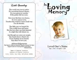 sles of funeral programs clouds youth memorial program funeral phlets