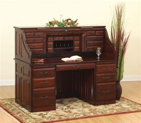 amish roll top computer desk deluxe amish roll top desk from dutchcrafters amish furniture