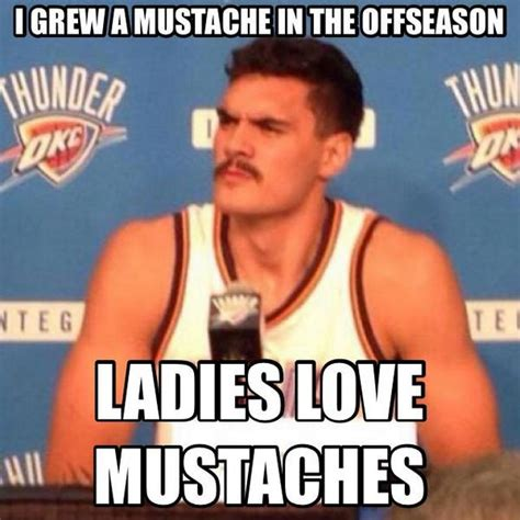Meme With Mustache - nba meme team on twitter quot proof that steven adams