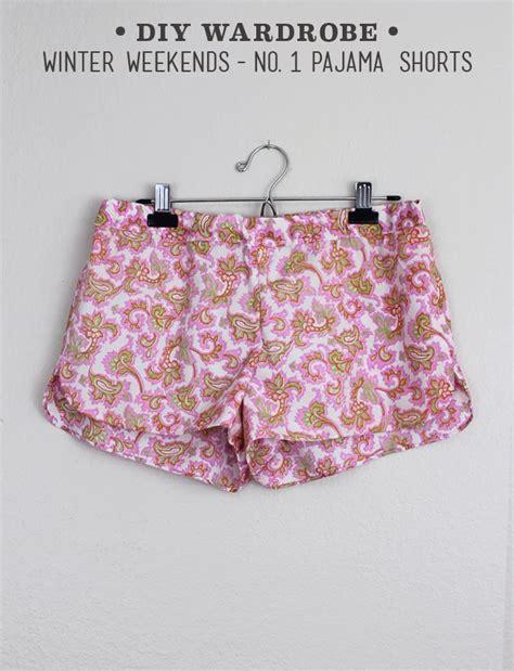diy pajama winter wardrobe no 1 pajama shorts sew diy