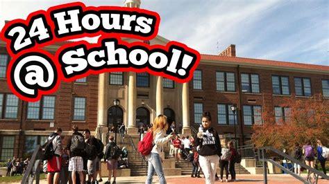 challenge school 24 hour challenge at school almost got 24