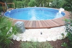 schwimmbad holz poolumrandung holz rund selber bauen bvrao