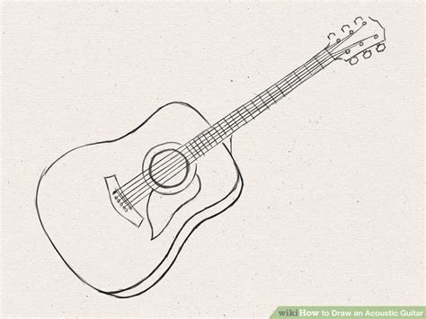 easy guitar book sketch how to draw an acoustic guitar 15 steps with pictures