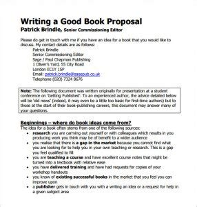 pattern of writing proposal book proposal template template business