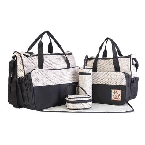 Koper Set Fashion Waterproof aliexpress buy 2018 fashion 5pcs baby dot nappy changing bags set mummy waterproof