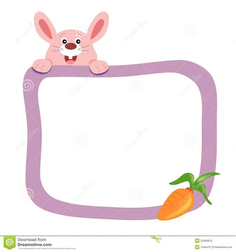 Frame Clipart 1208054 Illustration By by Frame With Rabbit Stock Illustration Illustration Of
