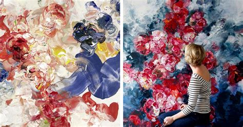 abstract floral paintings  bobbie burgers burst