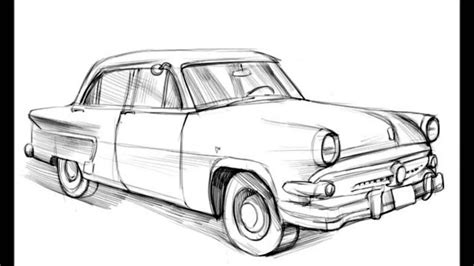 old cars drawings how to draw a old car youtube