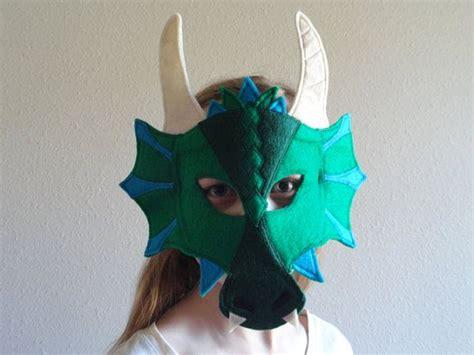 dragon felt mask mascara de fieltro disfraz halloween
