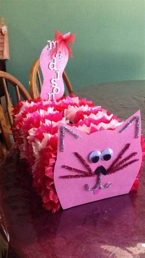 valentines day boxes ideas cat card box using an empty popcorn and saltine