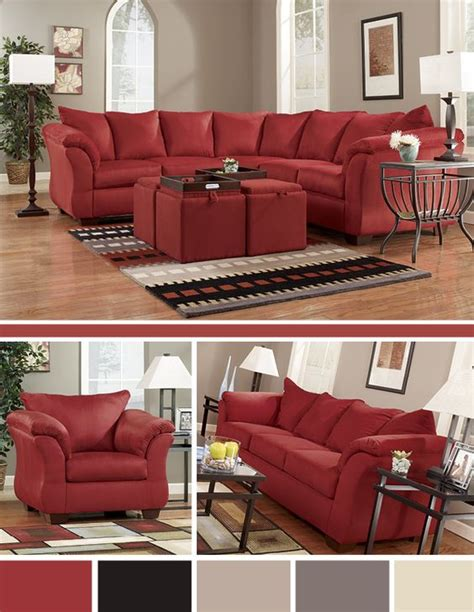 ashley furniture prices living rooms darcy sofa furniture grey and red living rooms