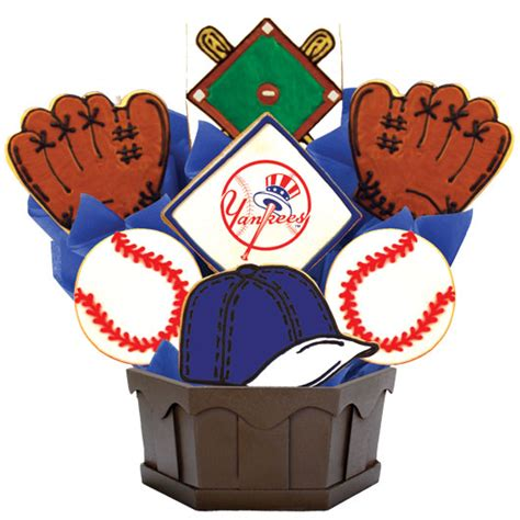 gifts for yankees fans mlb new york yankees cookie bouquet cookies by design
